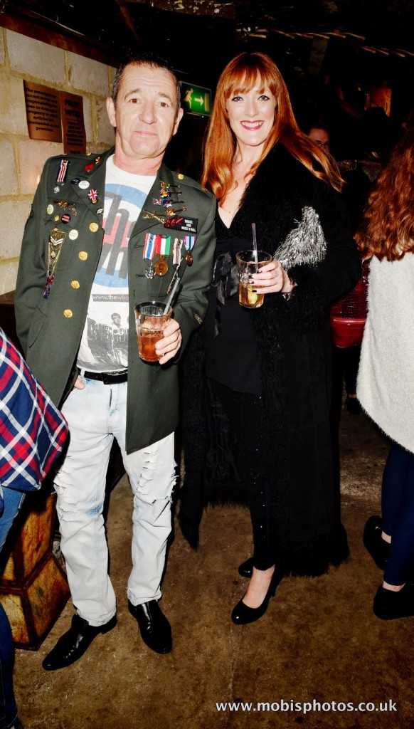 "OIC - ENTSIMAGES.COM - Wolfy Foxlow and Sharon Judd at the Fine Art Photography Exhibition By Gemma Reynolds Photography launching her unseen fine art Rock'N'Roll December ""gem rey"" collection in London 4th December 2015 Photo Mobis Photos/OIC 0203 174 1069"