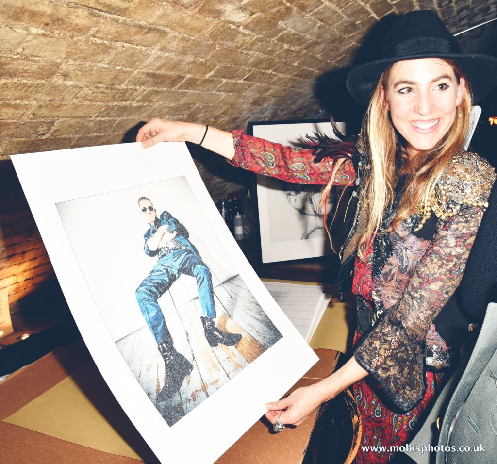"OIC - ENTSIMAGES.COM - Gemma Reynolds and Wolfy Foxlow at the Fine Art Photography Exhibition By Gemma Reynolds Photography launching her unseen fine art Rock'N'Roll December ""gem rey"" collection in London 4th December 2015 Photo Mobis Photos/OIC 0203 174 1069"