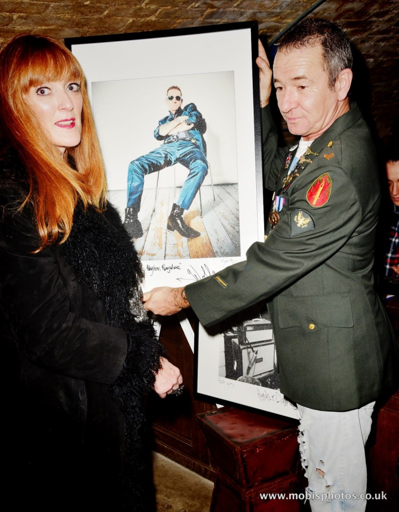 "OIC - ENTSIMAGES.COM - Sharon Judd and Wolfy Foxlow at the Fine Art Photography Exhibition By Gemma Reynolds Photography launching her unseen fine art Rock'N'Roll December ""gem rey"" collection in London 4th December 2015 Photo Mobis Photos/OIC 0203 174 1069"